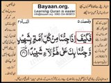 Quran in urdu Surah 004 AL Nissa Ayat 041 Learn Quran translation in Urdu Easy Quran Learning