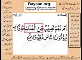 Quran in urdu Surah AL Nissa 004 Ayat 053 Learn Quran translation in Urdu Easy Quran Learning