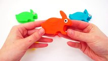 Play-Doh Surprise Rabbits Surprise Eggs Hello Kitty Smurfs Squinkies