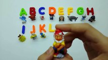 ABC Party ! Learn the Alphabet with Colorful Letters Play Doh and Surprise Toys