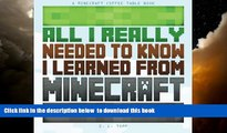 Buy Minecraft Library All I Really Needed to Know I Learned from Minecraft: A Minecraft Coffee