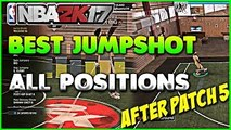 BEST JUMPSHOT NBA 2K17 ALL POSITIONS AFTER PATCH 6 MAKE EVERY SHOT GREEN RELEASE 100% BUCKETS MYPARK