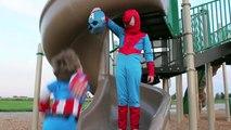 Captain America & Superman Vs Spider-Man DEATH BATTLE - In Real Life - Kids Superhero Fight