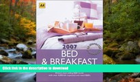 READ  AA Bed   Breakfast Guide 2007: Britain s Best-Selling B B Guide (AA Lifestyle Guides) FULL