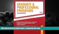 Buy NOW Peterson s Grad Guides Book 1:  Grad/Prof Progs Overvw 2009 (Peterson s Graduate