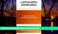 Best Price  Capitalizing Knowledge: New Intersections of Industry and Academia (S U N Y Series,