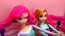 De la matière visqueuse tombe sur Elsa et Anna de La Reine des Neiges ! Elsa et Anna en francais