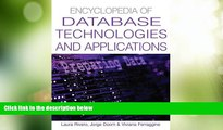 Best Price Encyclopedia Of Database Technologies And Applications  For Kindle