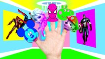 Finger Family collection Spiderman Peppa pig Elsa Lollipop Superhero Nursery Rhymes Lyrics and more