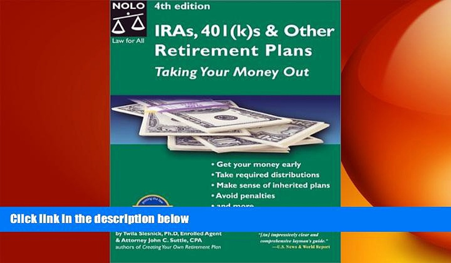 READ book Ira S, 401(K)s   Other Retirement Plans: Taking Your Money Out (Ira s, 401k s   Other