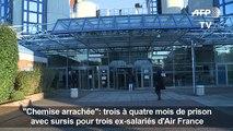 «Chemise arrachée»: sursis pour trois ex-salariés d'Air France