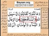Quran in urdu Surah AL Nissa 004 Ayat 075A Learn Quran translation in Urdu Easy Quran Learning
