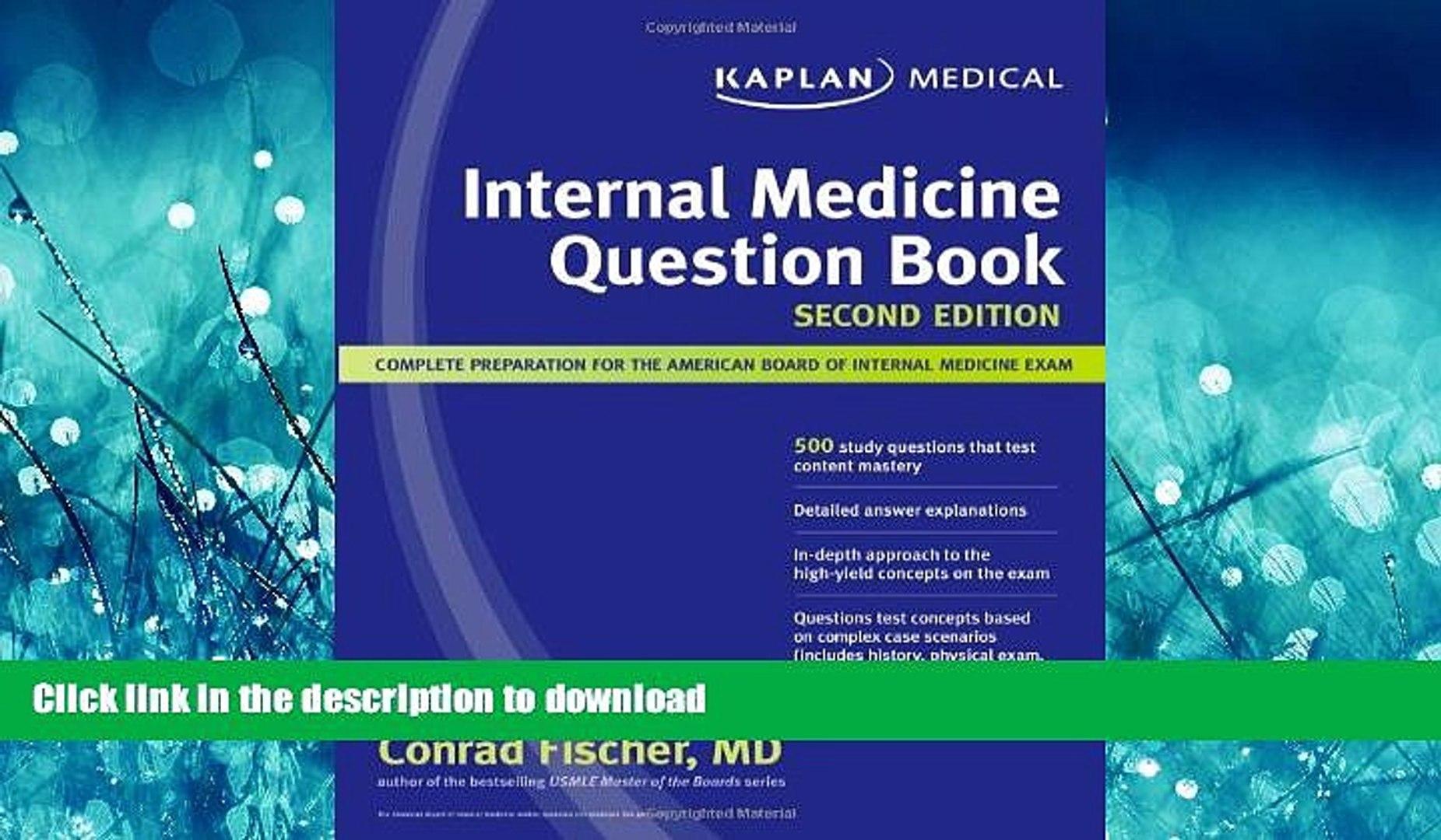 PDF ONLINE Kaplan Medical Internal Medicine Question Book READ PDF FILE  ONLINE