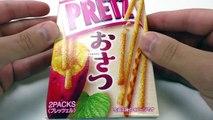 SWEET POTATO PRETZEL STICKS? Glico Osatsu PRETZ - Sweets Test
