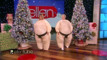 Jennifer Aniston and Ellen Have Some Sumo-Sized Fun!