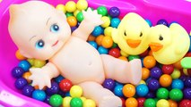 Learn Colors Bubble Gum Baby Doll Bath Playing Time DIY Mini Heart Gummy Jelly Recipe