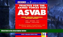 Pre Order Practice for the Armed Forces Test: Asvab/Armed Services Vocational Aptitude Battery