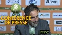 Conférence de presse Stade Lavallois - RC Lens (0-1) : Marco SIMONE (LAVAL) - Alain  CASANOVA (RCL) - 2016/2017