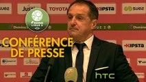 Conférence de presse Valenciennes FC - Gazélec FC Ajaccio (0-0) : Faruk HADZIBEGIC (VAFC) - Jean-Luc VANNUCHI (GFCA) - 2016/2017