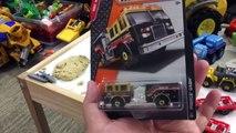 Matchbox Cars Toy Unboxing - Gas Station For Kids - Fire Truck, John Deere Semi Hauler, Dump Truck