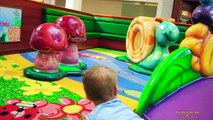 Cute Boy Playing at Fun for Kids Indoor Playground in a Shopping Mall Children Family Fun Max Toys