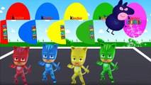 Learn Colours with Catboy Connor, Colors for Children to Learn with Pj Masks Surprise Eggs