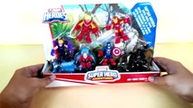 Playskool heroes Marvel super hero adventures   Iron Man VS Captain America   #SurpriseEggs4k