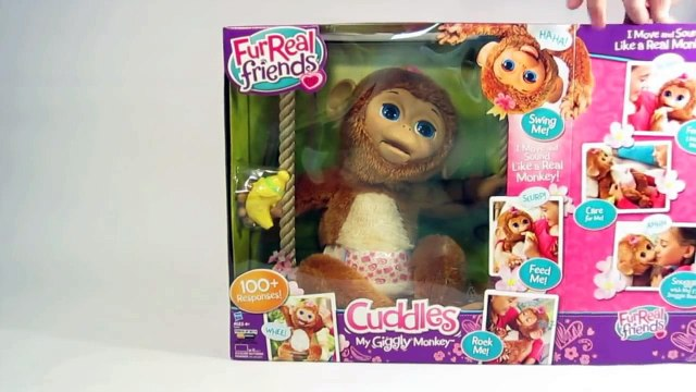 Furreal Friends Cuddles My Giggly Monkey Pet part1