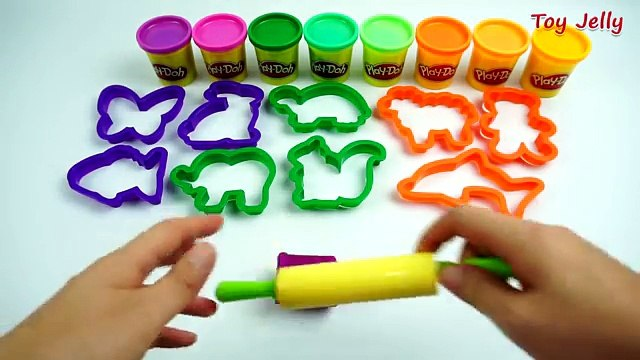 Play and Learn Animals with Modelling Clay with Cookie Cutters