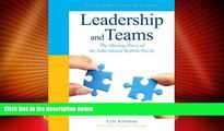 Price Leadership and Teams: The Missing Piece of the Educational Reform Puzzle (New 2013 Ed