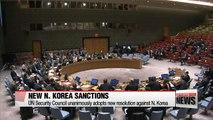 UN Security Council unanimously approves tougher sanctions against N. Korea