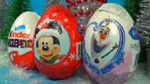 Christmas Kinder Surprise egg Mickey Mouse egg Disney FROZEN surprise egg for baby 킨더 서프라이즈