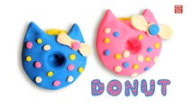 Play Doh Donuts | How to make Play Doh Donuts | Hello Kitty Play Doh Donuts | Kids learning Videos