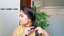Hairstyles for medium to long hair//Braided 4 Strand BRAID & SIDE BUN for Indian weddings/Parties/