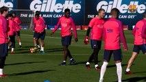 FC Barcelona training session: FC Barcelona start training for El Clásico