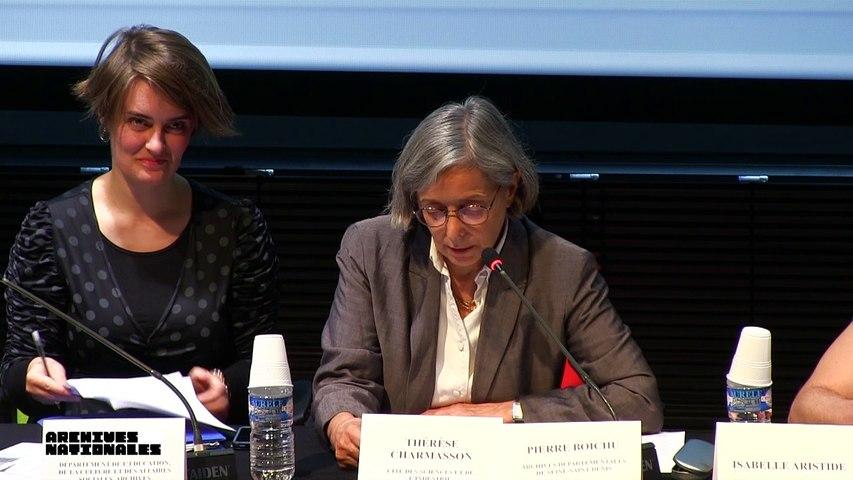 Thérèse Charmasson : Table ronde