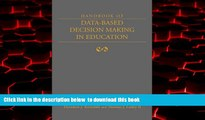 Pre Order Handbook of Data-Based Decision Making in Education Theodore Kowalski Full Ebook
