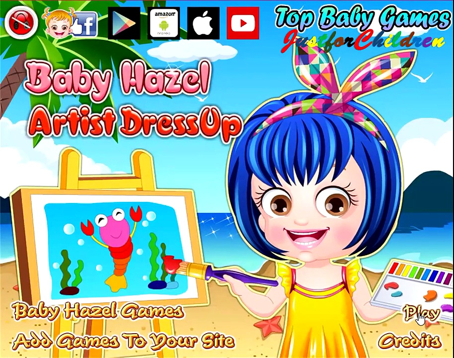 Baby Hazel Games | Dress up Games – ARTIST | Baby Games | Free Games | Games for Girls