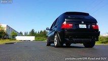 BMW X5 4.8 vs Porsche Cayenne S  loud acceleration