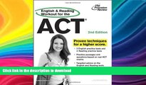READ THE NEW BOOK English and Reading Workout for the ACT, 2nd Edition (College Test Preparation)
