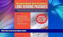 Pre Order Standardized Test Practice: Long Reading Passages: Grades 5-6: 16 Reproducible Passages