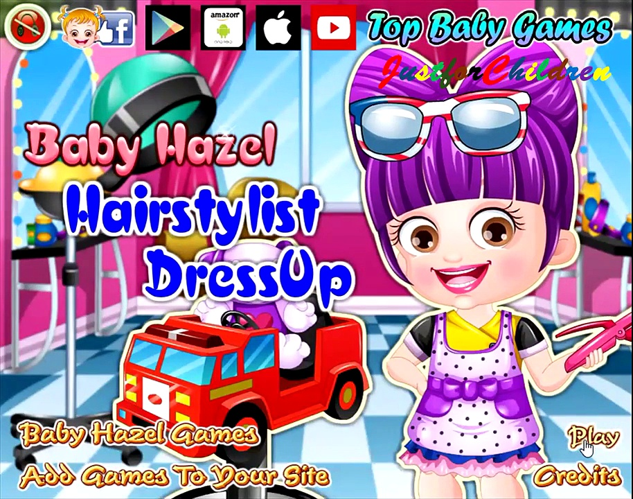 Baby Hazel Games | Dress up Games – Hairstylist | Baby Games | Free Games | Games for Girls
