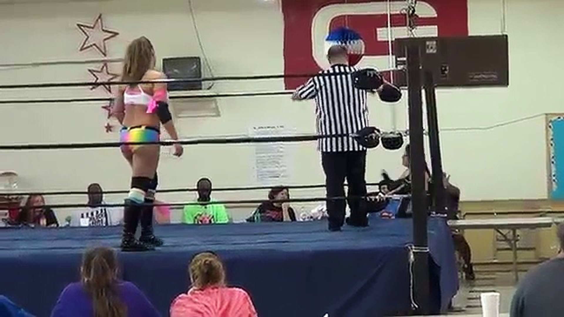 Women Wrestling - The Lovely Lylah vs  Mary Elizabeth Monroe 48