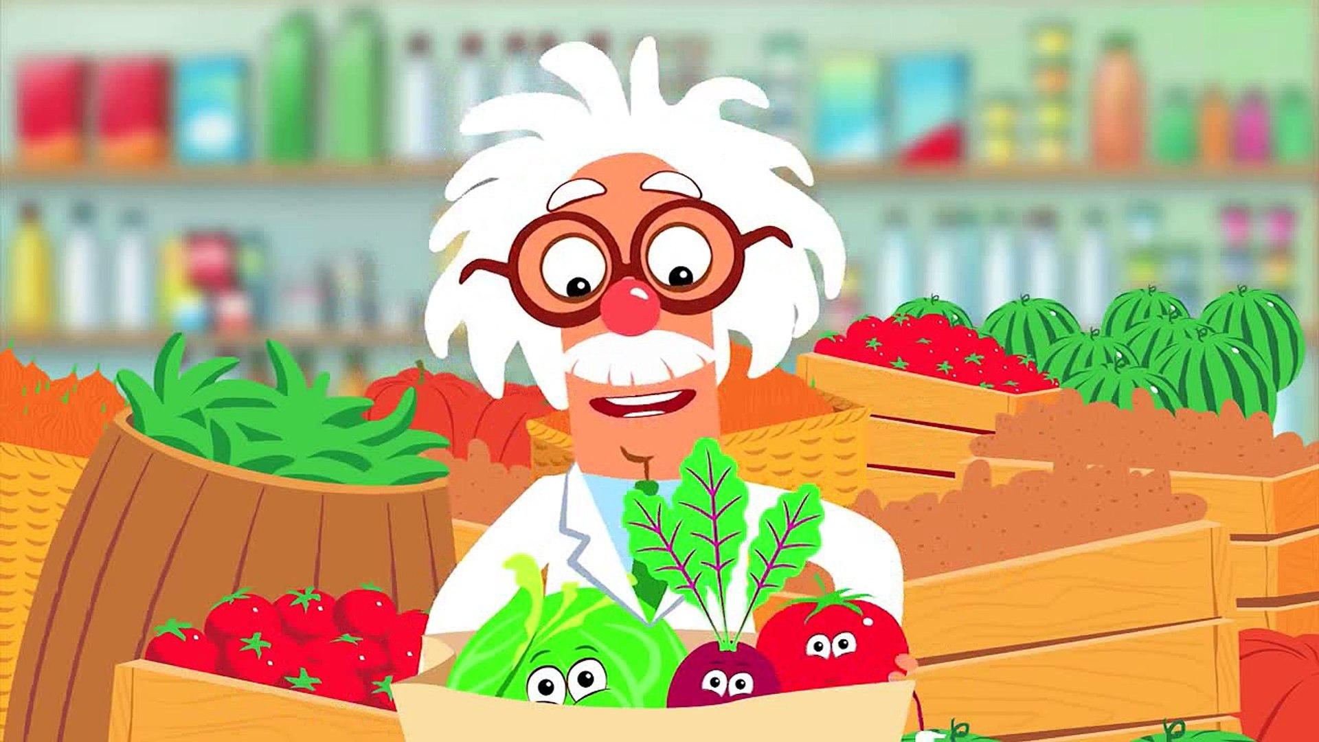 ОВОЩИ - Развивающая песенка мультик про полезную еду и синий трактор для детей малышей_cut_cut