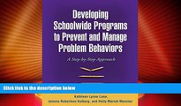 Price Developing Schoolwide Programs to Prevent and Manage Problem Behaviors: A Step-by-Step