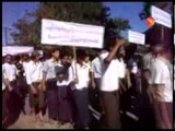 Sittwe University students hold protest to demand securit