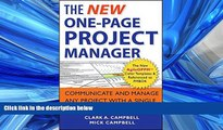 FAVORIT BOOK The New One-Page Project Manager: Communicate and Manage Any Project With A Single