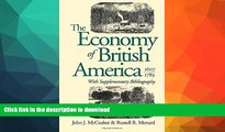 READ  The Economy of British America, 1607-1789 (Published for the Omohundro Institute of Early