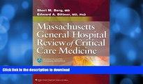 EBOOK ONLINE Massachusetts General Hospital Review of Critical Care Medicine PREMIUM BOOK ONLINE