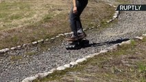 Electric Skateboard on Crawler Tracks Lets You Ride on Any Terrain
